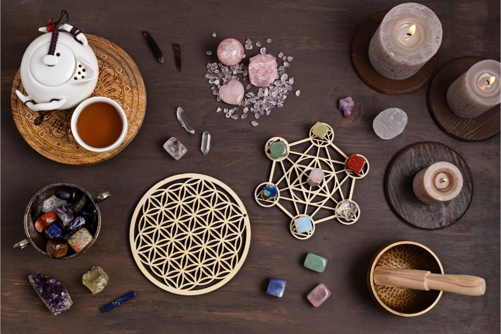 Rituals with gemstones and aromatherapy for wellness