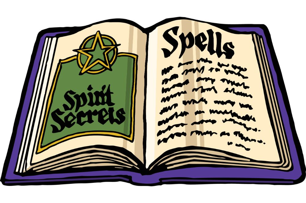 Halloween witches spell book