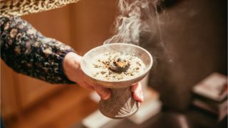 Traditional incense ritual